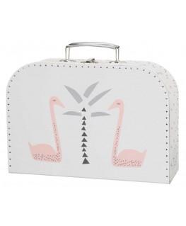 Koffer Fresk Schwan rosa