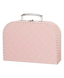 Koffer Fresk rosa Schwan Füße, Kinderkoffer, Pappkoffer