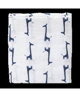 Fres Swaddle Tuch Giraffe blau