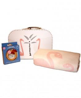 Geschenkset Baby Mädchen Geburt rosa Schwan