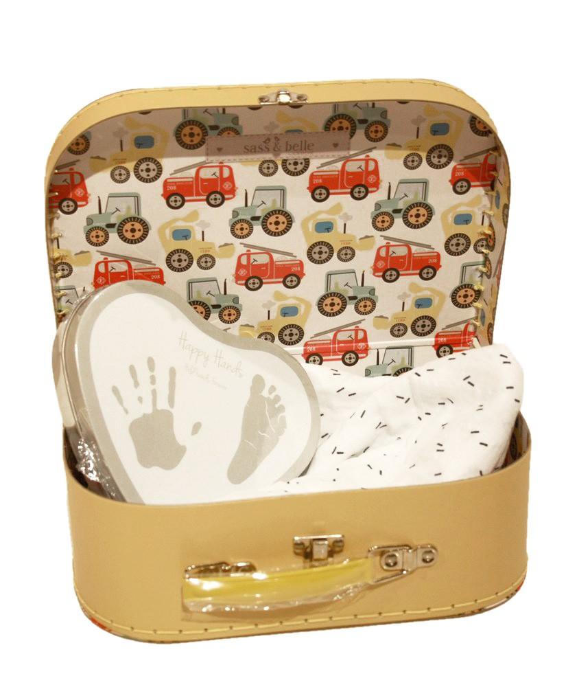 Goede Geschenk zur Geburt, Gips Abdruck Set, Fresk Swaddle Rainbow im Koffer XO-05