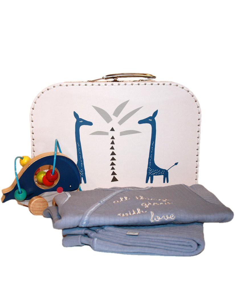 Geschenkidee Fresk Koffer mit Hust & Claire Baby Set blau