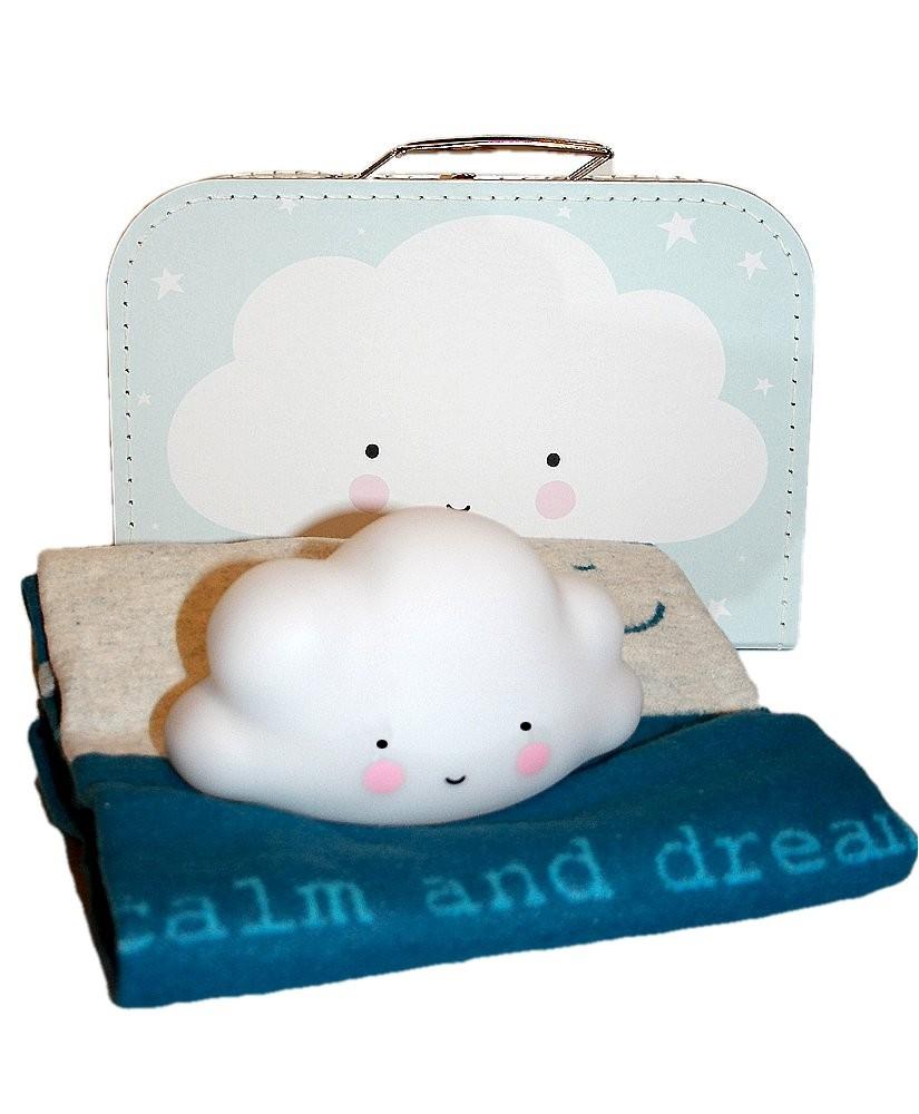 Geschenkidee Geburt, Eco Kids Decke Fussenegger, Nachtleuchte Wolke
