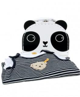 Sass & Belle Panda Koffer Geschenkset, Steiff Strampler Teddy
