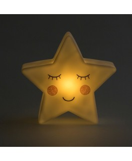 Sass & Belle Kinder Nachtlicht Schlummerlicht Stern weiß