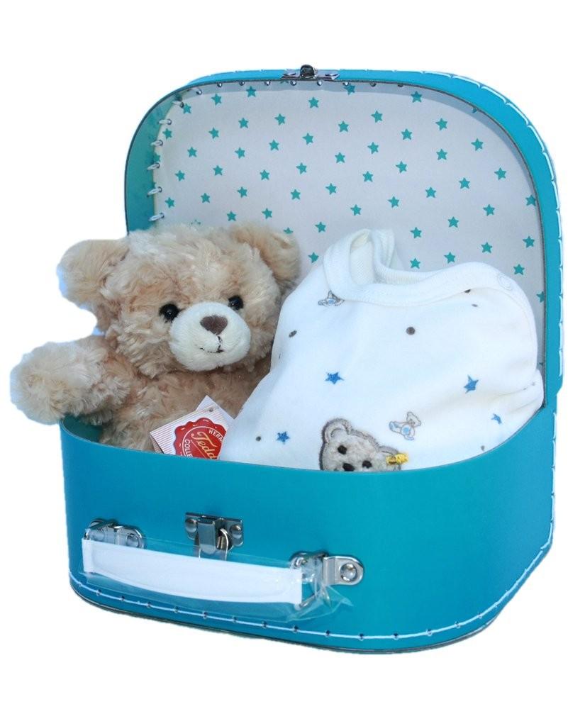 Baby Geschenkset Steiff Strampler, Plüsch Teddy
