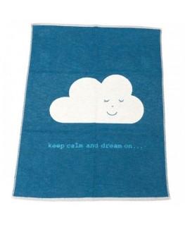 Fussenegger Decke Eco Kids Wolke blau