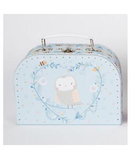 Sass & Belle Koffer Eule blau